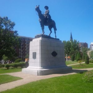 One of the war memorials in Central Memorial Park