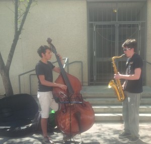 These two guys were rocking the original Spider Man theme - it was amazing!