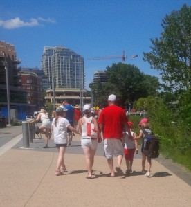 5 Canadians heading west on the River Walk