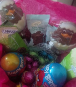 A gift from the Easter Bunny awaited Michaela's arrival